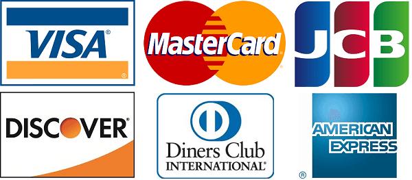各種クレジットカード決済可能